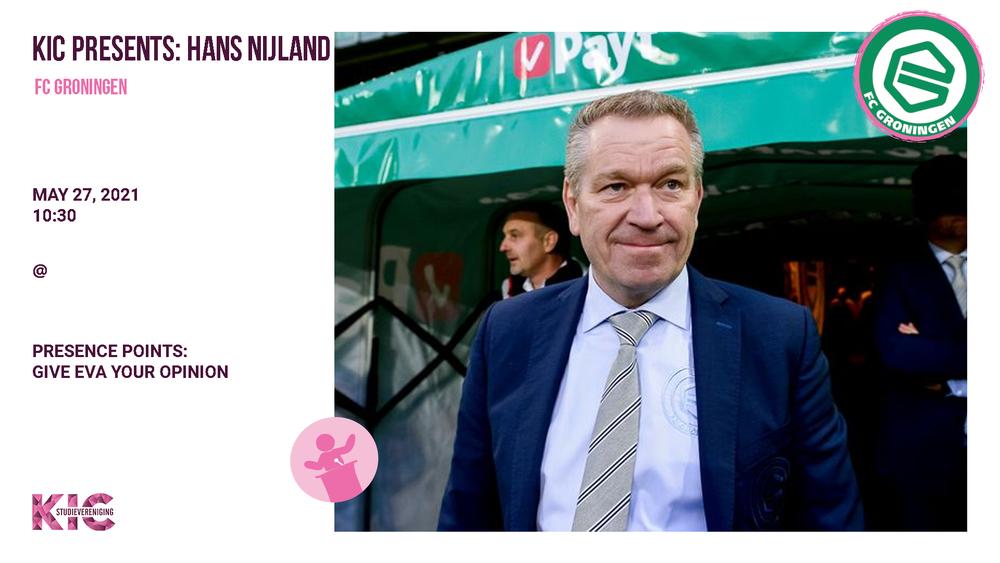 Last but not least: KIC Lecture Hans Nijland