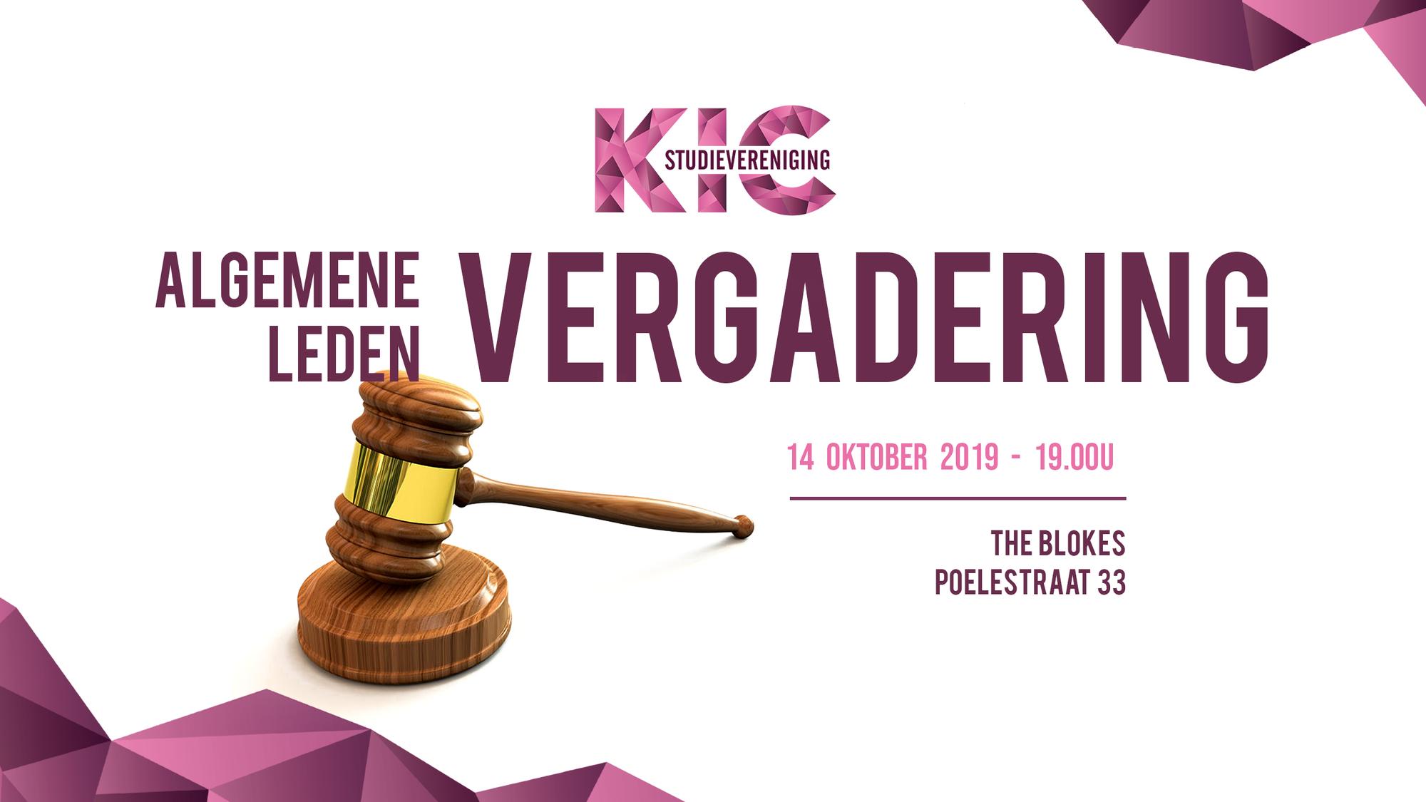 KIC: Algemene Ledenvergadering
