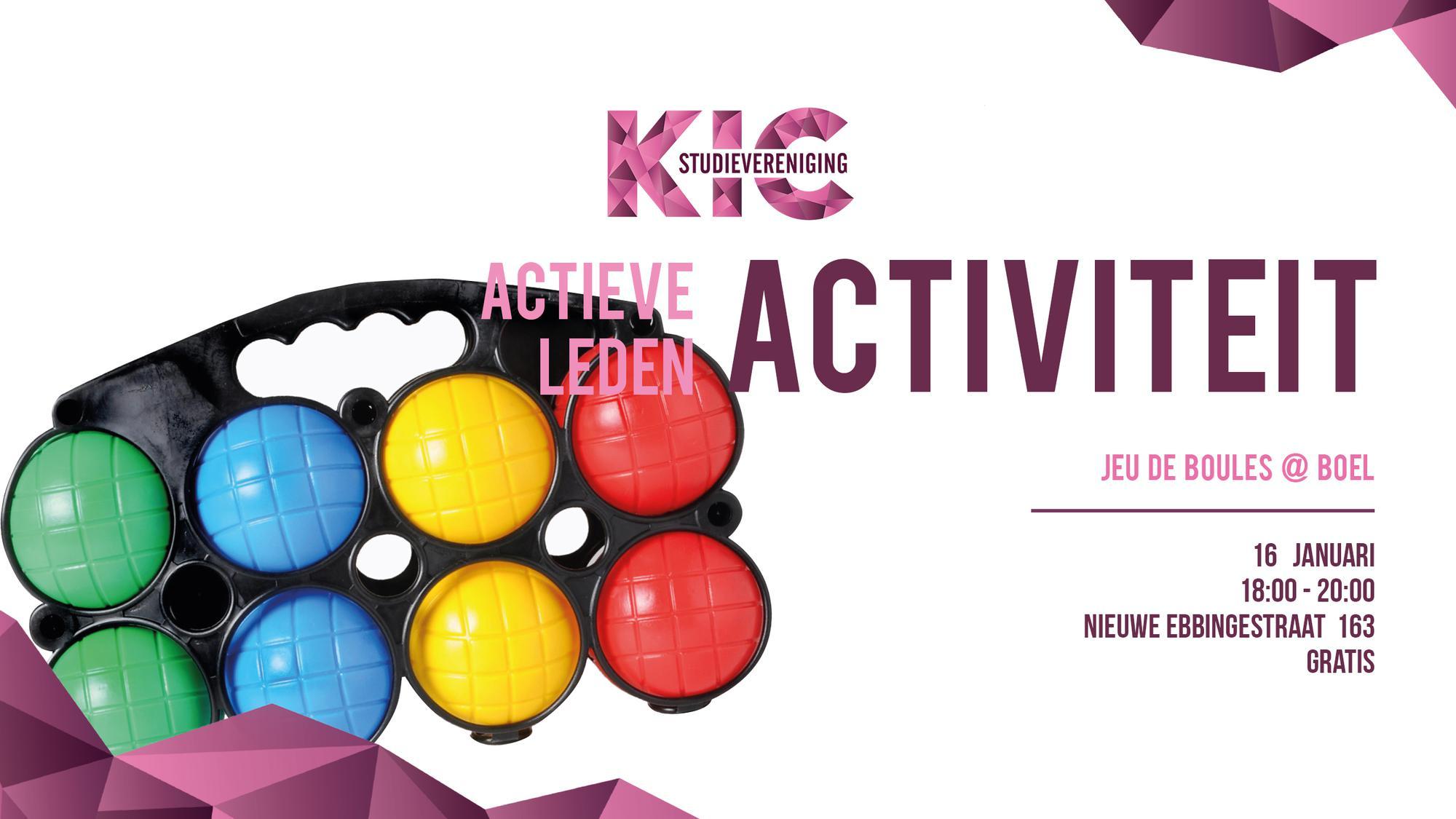 Actieve ledenactieviteit: Jeu de boules