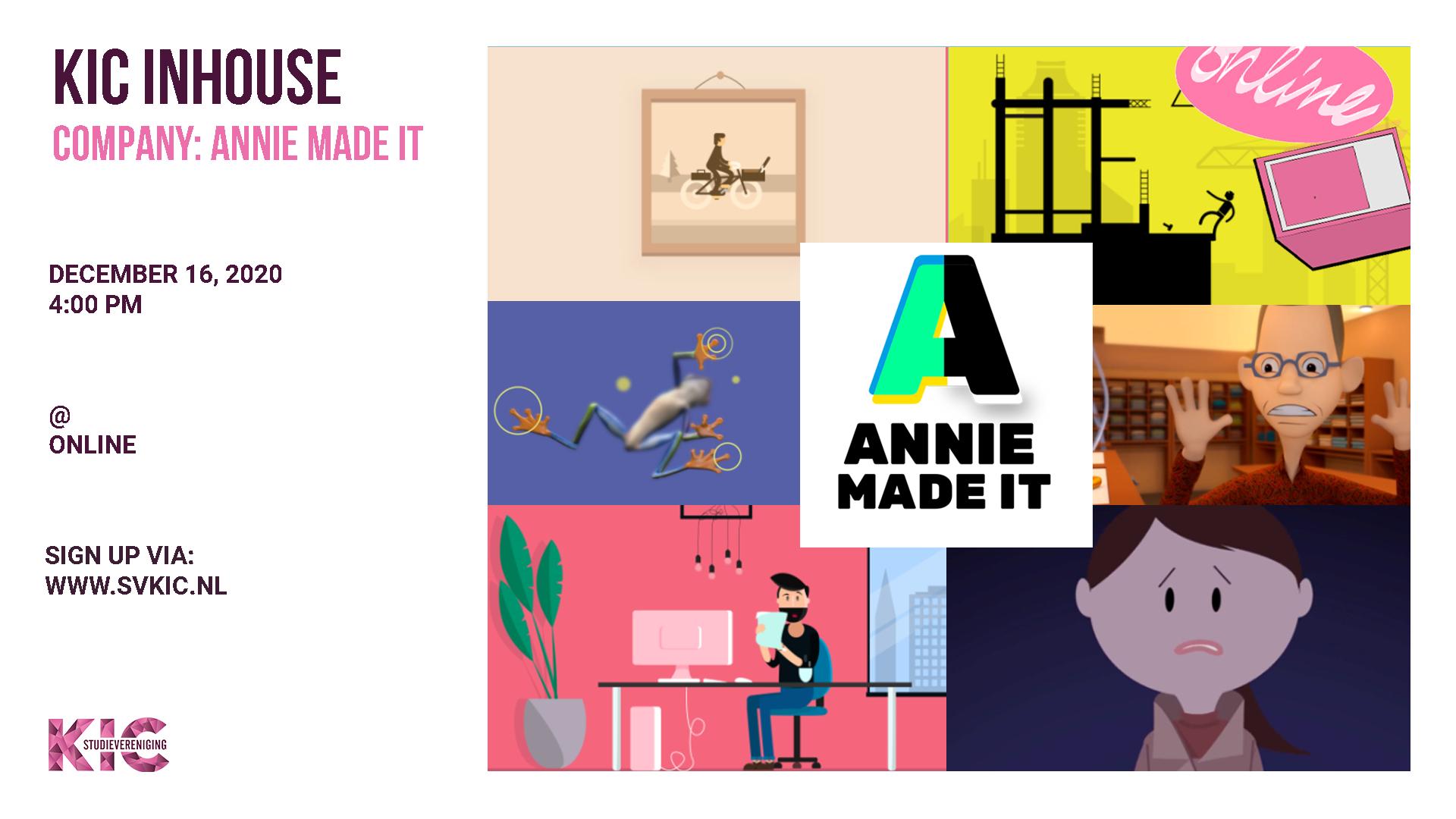 KIC presents: Annie Made It